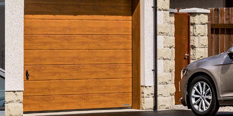 Linear Medium Design Sectional Garage Door