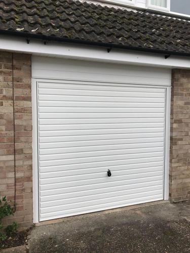 HÖRMANN 2002 Canopy door and steel frame factory finished in Brilliant White