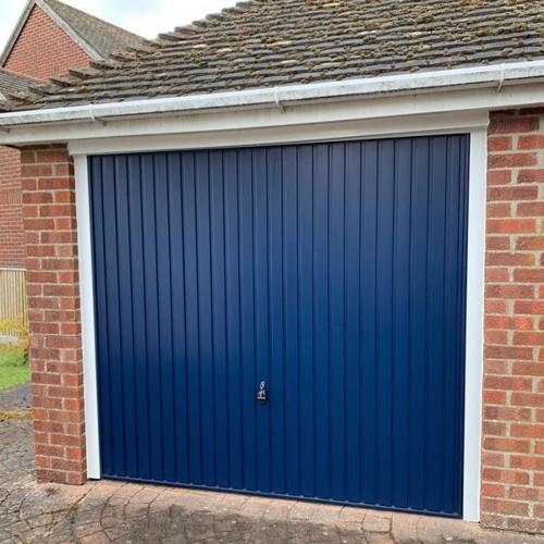 HÖRMANN Retractable Up and Over Door in Blue
