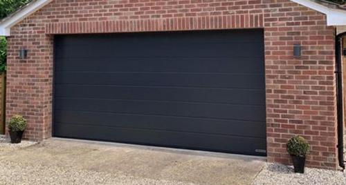 HÖRMANN Double LPU42 M-Ribbed Sectional Door Graphite